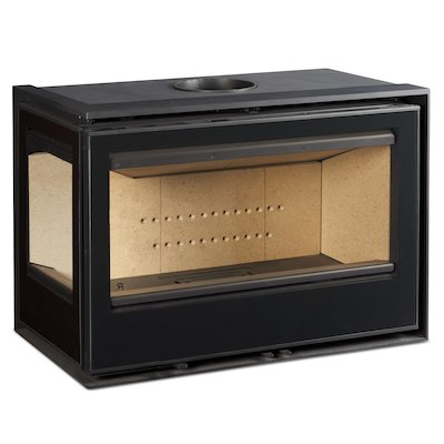 Rocal ARC 96 Wood Cassette Fire - Corner Black Glass Left Side Glass