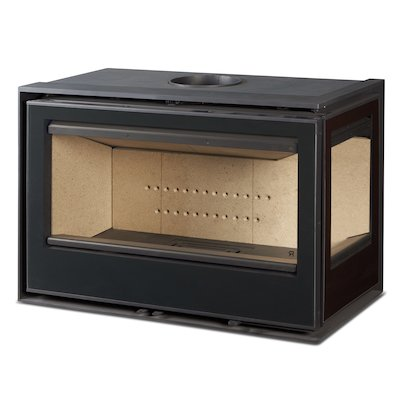 Rocal ARC 96 Wood Cassette Fire - Corner Black Glass Right Side Glass