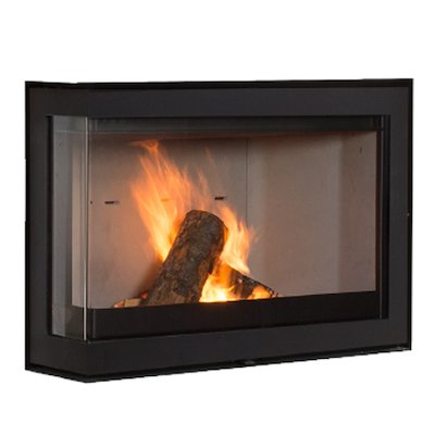 Wanders S75 Wood Cassette Fire - Corner Black Left Side Glass