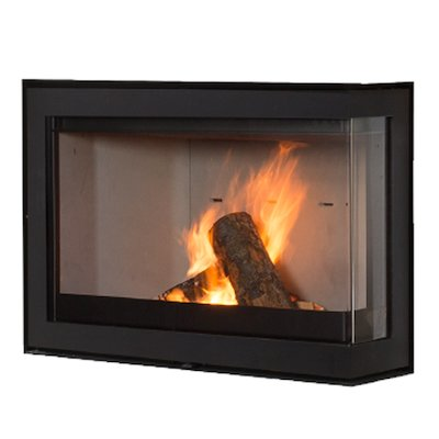 Wanders S75 Wood Cassette Fire - Corner Black Right Side Glass