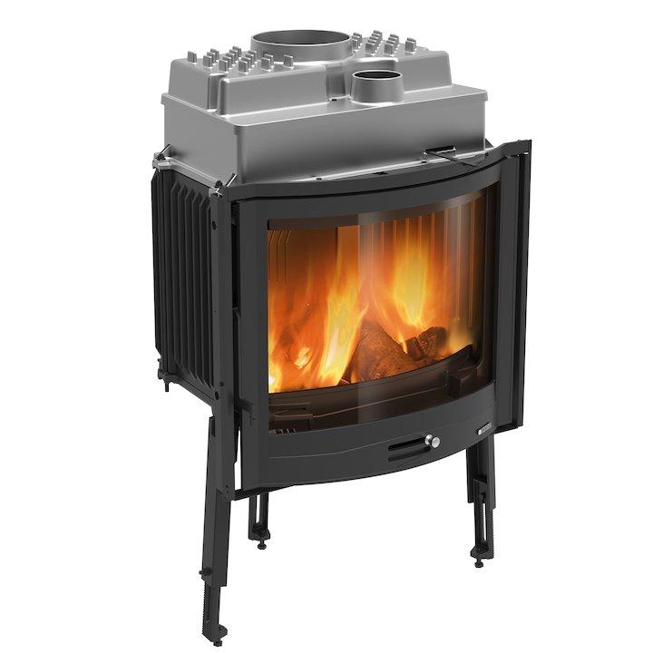 La Nordica Focolare Tondo 70 Built-In Wood Fire - Frontal - Black