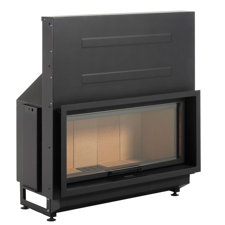 LL-Calor LL2080 Built-In Wood Fire - Frontal - Black