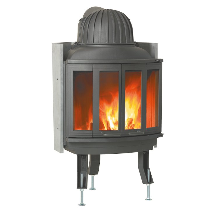 Nordpeis Ni25 Built-In Wood Fire - Frontal - Black