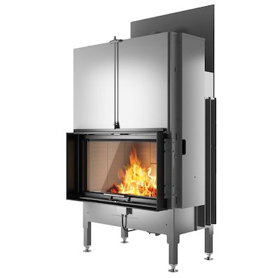 Rais Visio 1 Built-In Wood Fire - Frontal Black Finishing Frame