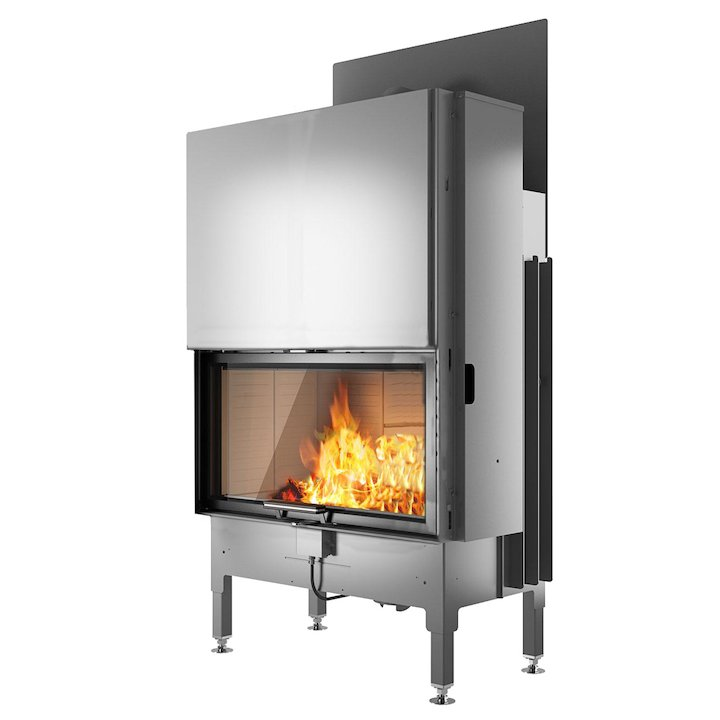 Rais Visio 1 Built-In Wood Fire - Frontal Black No Frame - Black