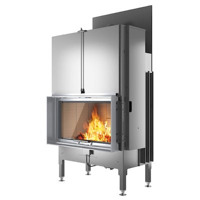Rais Visio 1 Built-In Wood Fire - Frontal Stainless Steel Finishing Frame