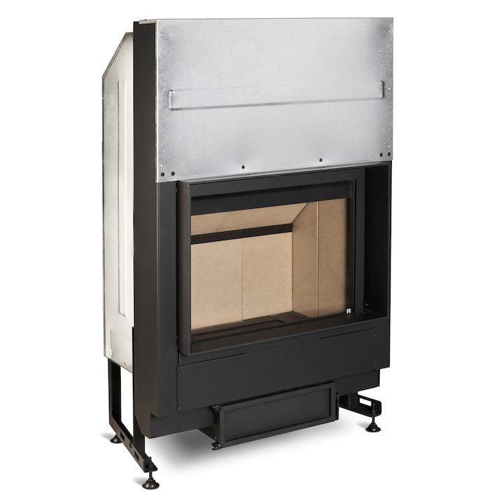 Rocal G300 Built-In Wood Fire - Frontal - Black