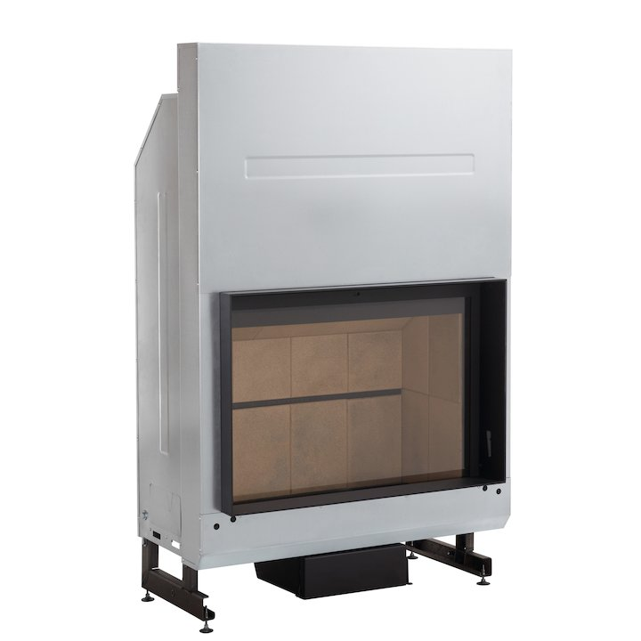 Rocal G400 Built-In Wood Fire - Frontal - Black