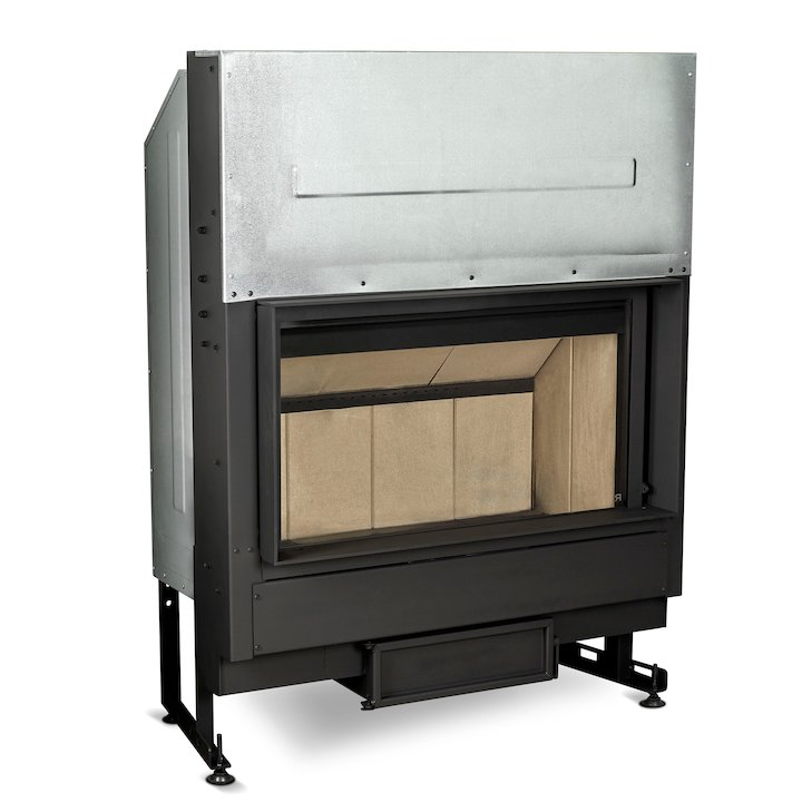 Rocal G450 Built-In Wood Fire - Frontal - Black