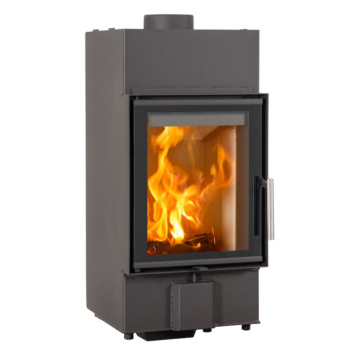 Scan 5001 Built-In Wood Fire - Frontal - Black