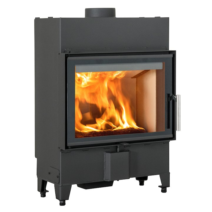 Scan 5002 Built-In Wood Fire - Frontal - Black