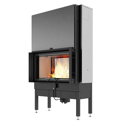 Rais Visio 2:1 Built-In Wood Fire - Tunnel Black Finishing Frame