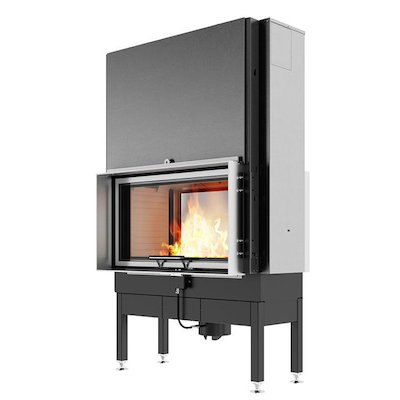 Rais Visio 2:1 Built-In Wood Fire - Tunnel Stainless Steel Finishing Frame