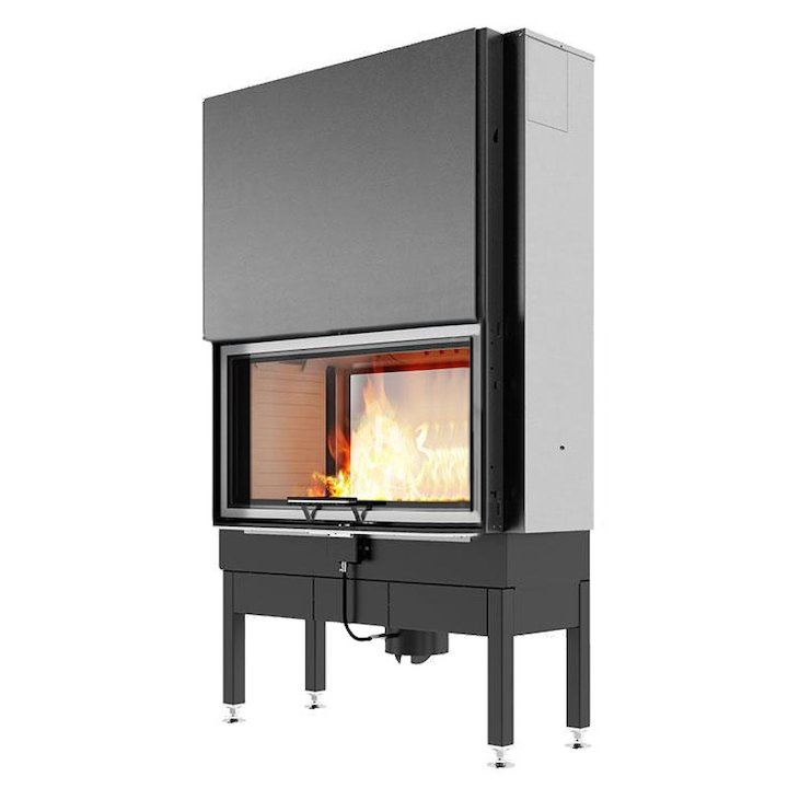 Rais Visio 2:1 Built-In Wood Fire - Tunnel Stainless Steel No Frame - Stainless Steel