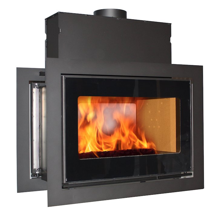 Scan DSA 12 Built-In Wood Fire - Tunnel - Black