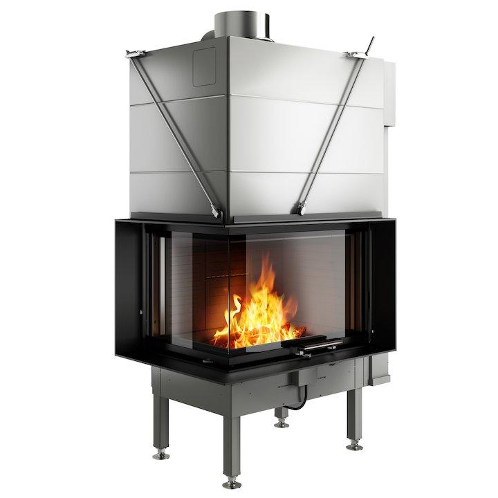 Rais Visio 2 Built-In Wood Fire - Corner
