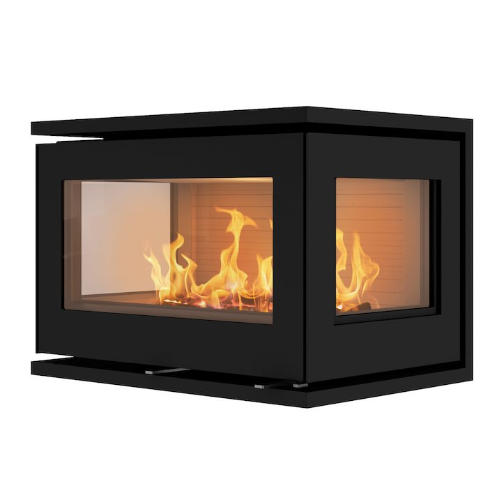 Rais 500/3 Wood Cassette Fire - Three Sided - Black