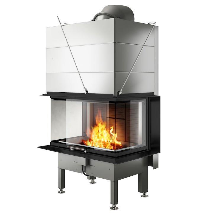 Rais Visio 3 Built-In Wood Fire - Three Sided