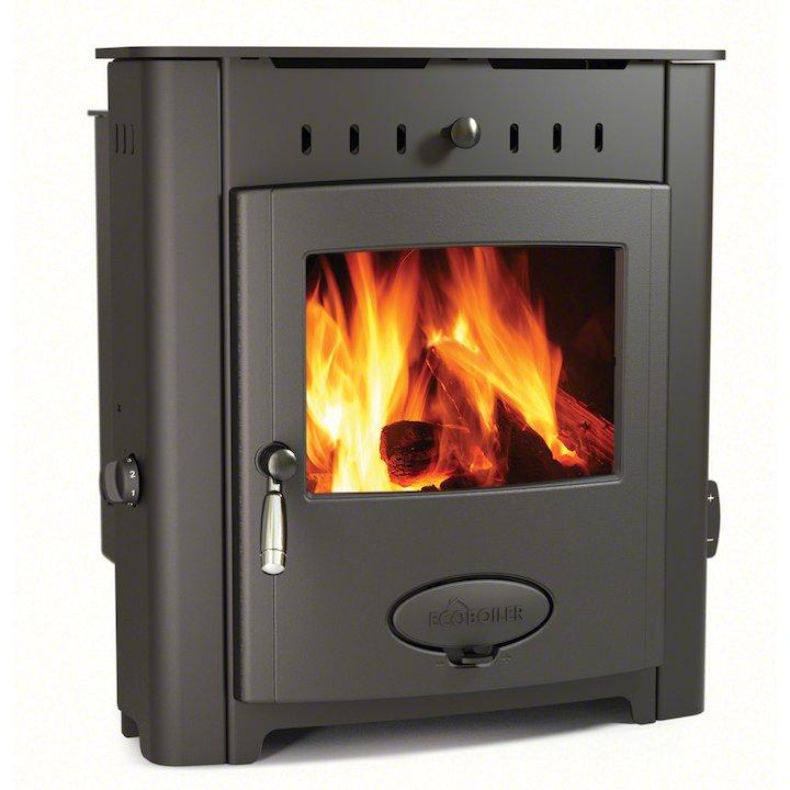 Arada Ecoboiler 12i HE Multifuel Boiler Inset Stove - Midnight Black