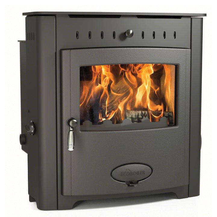Arada Ecoboiler 16i HE Multifuel Boiler Inset Stove - Midnight Black