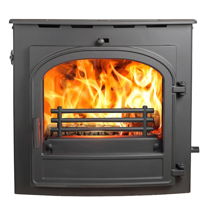 Hunter Telford 20B Multifuel Inset Boiler Stove Black Single Door - Black