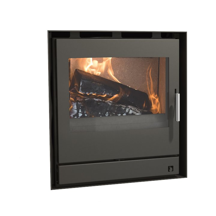 Arada Ecoboiler 12 HE Multifuel Cassette Boiler Fire - Frontal Midnight Black Frameless/Edge - Midnight Black