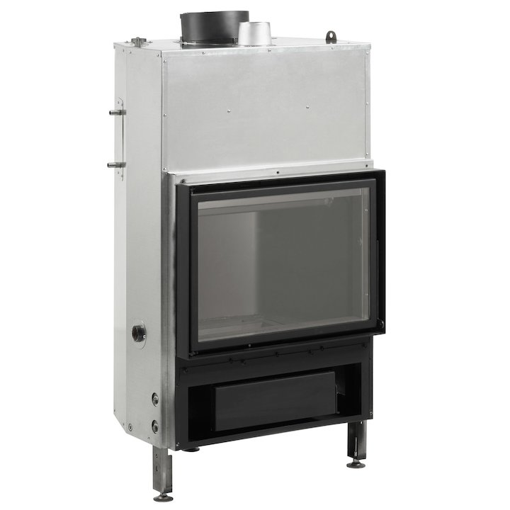 Rocal Thermogar LN70 Built-In Wood Boiler - Frontal - Black