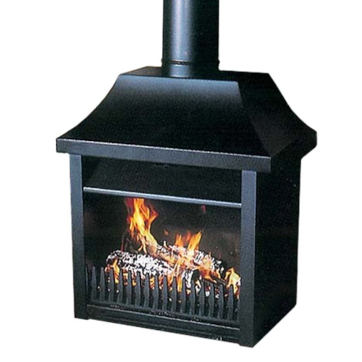 Flamewave Tortoise Model 6 Wood Open Convector Stove - Black
