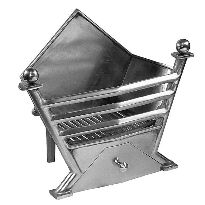 Gallery Art Deco Firebasket - Polished Steel