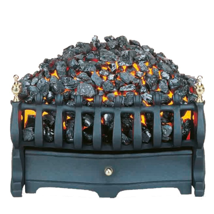 Burley Halstead Tapered Electric Fire Kit - Black