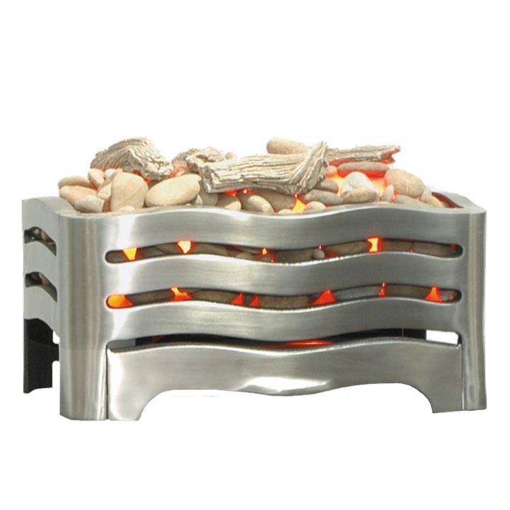 Burley Waverley Electric Firebasket - Brushed Steel