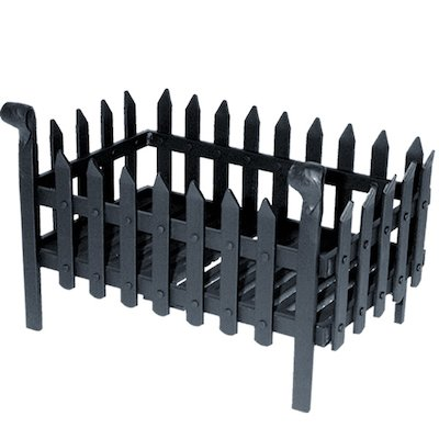 Calfire Portcullis Medium Solid Fuel Firebasket Black No Back