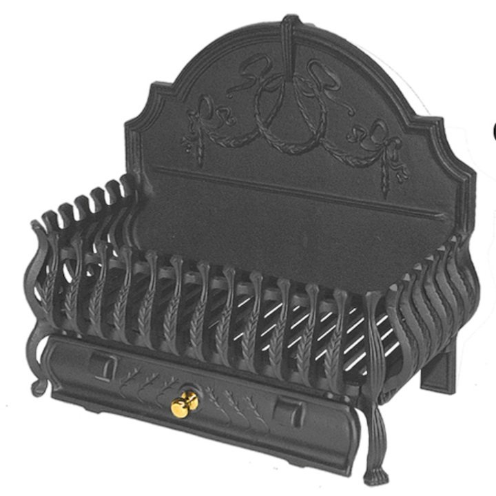 Calfire Spanish Back Medium Solid Fuel Firebasket - Black