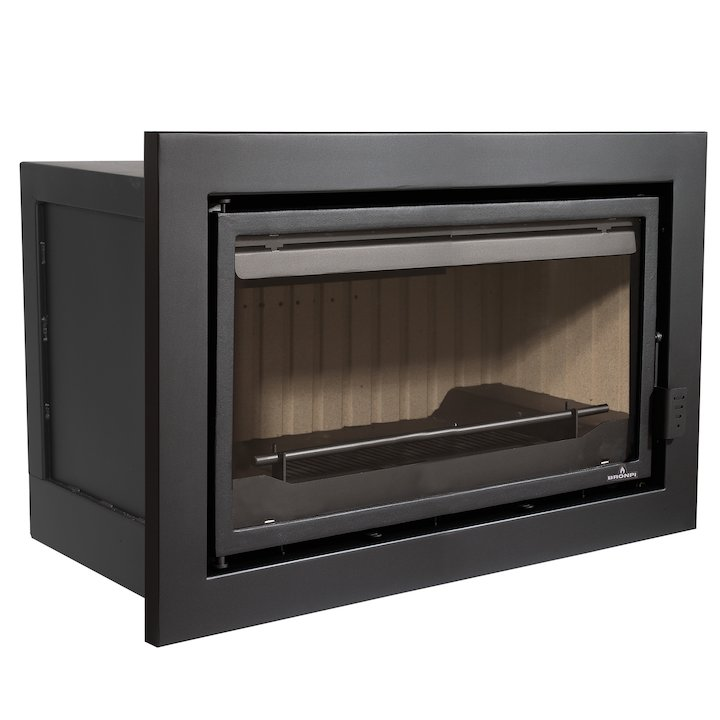 Bronpi Florida Panoramic Wood Cassette Fire - Black
