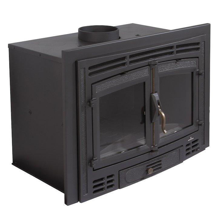 Bronpi Madrid Rustico Wood Cassette Fire - Black