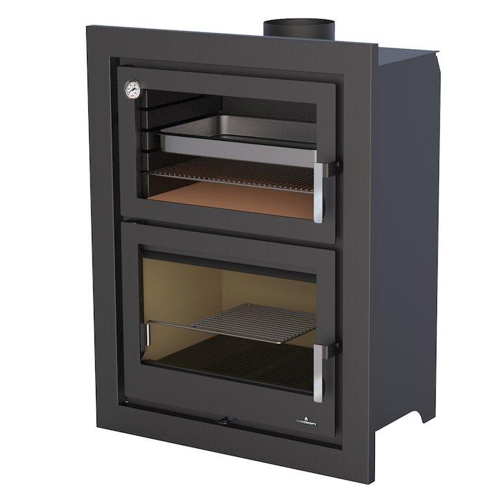Bronpi Murano-E Wood Cassette Fire - With Oven - Black