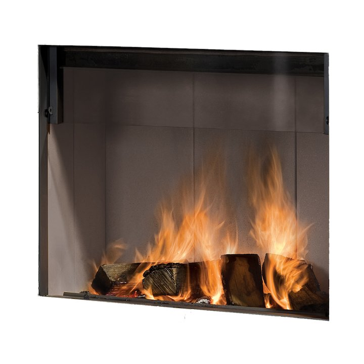 Barbas Escamolux 80/65 Built-In Wood Fire - Frontal - Anthracite