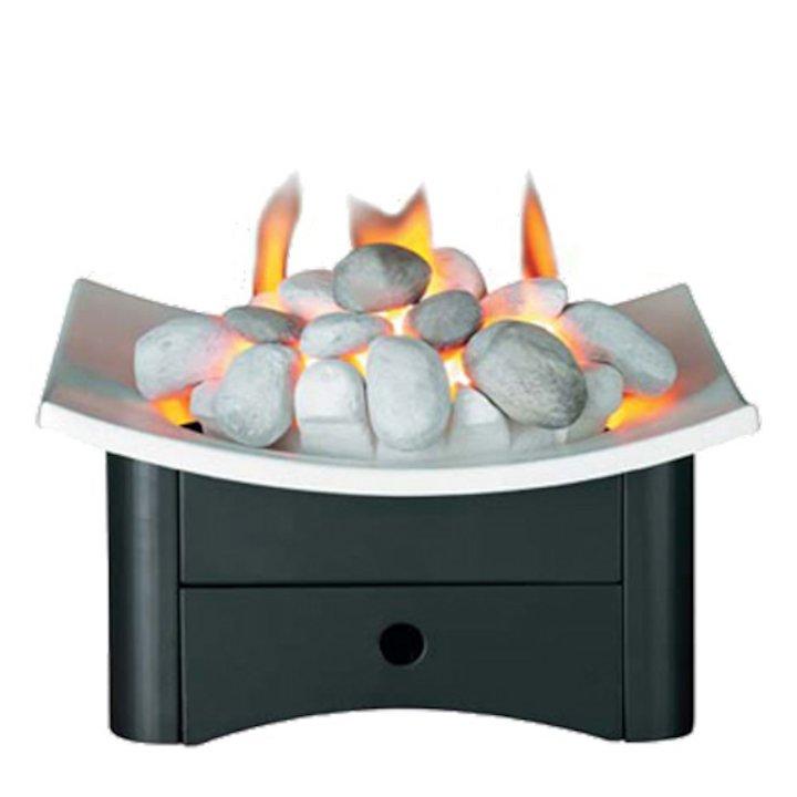 Valor Arc DGF Gas Firebasket - Clearance - Silver