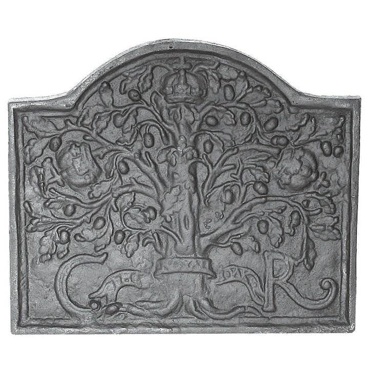 Calfire Royal Oak Midi Cast-Iron Fire Back Plate - Black