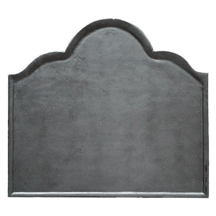 Calfire Plain Large Cast-Iron Fire Back Plate - Black