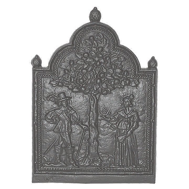 Calfire Tree of Life Cast-Iron Fire Back Plate - Black