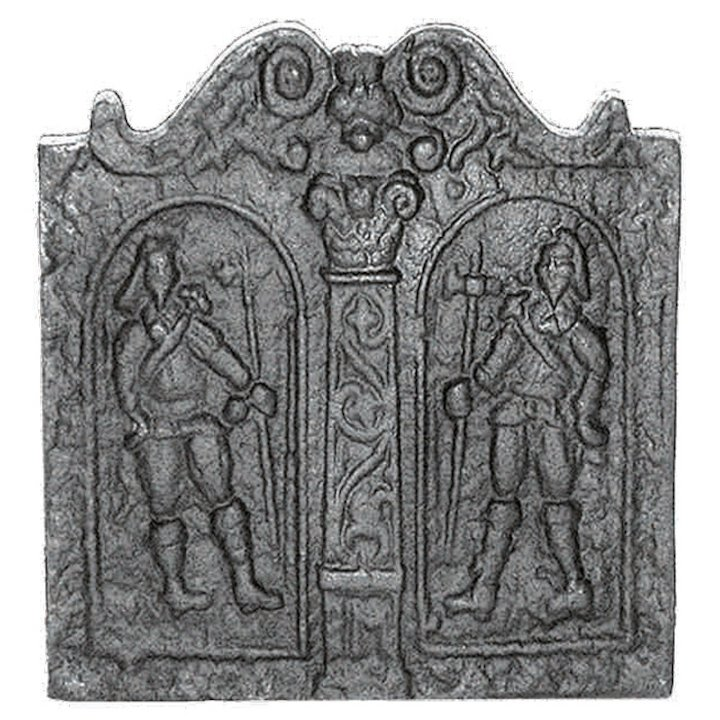 Calfire Pikemen Cast-Iron Fire Back Plate - Black