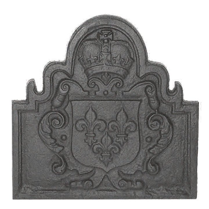 Calfire Shield Cast-Iron Fire Back Plate - Black