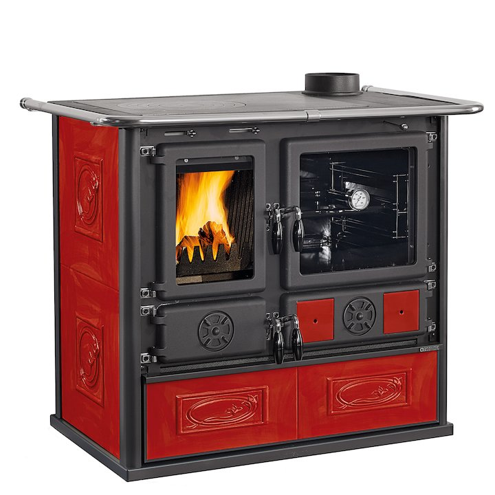 La Nordica Rosa Wood Burning Range Cooker - Bordeaux