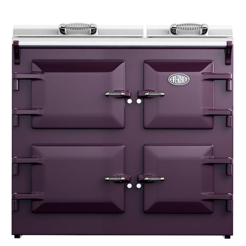 Everhot 100 Plus Electric Range Cooker - Enamel Aubergine