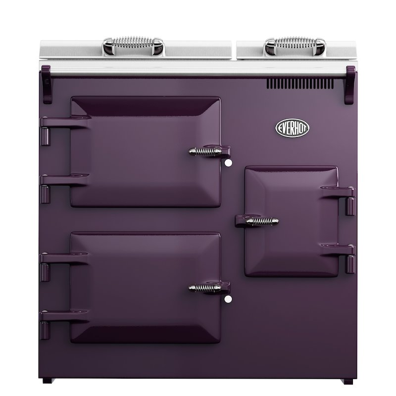 Everhot 90 Plus Electric Range Cooker - Enamel Aubergine