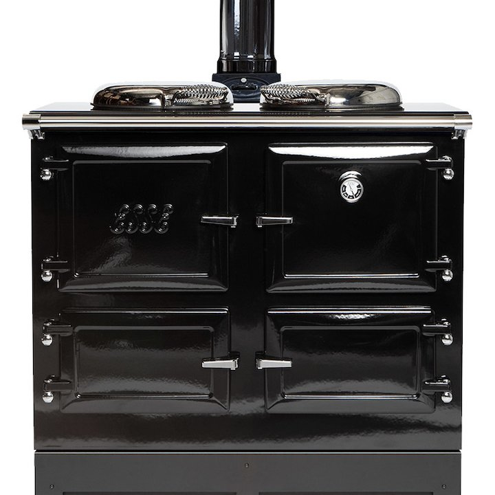 ESSE 990 WD Wood Burning Boiler Range Cooker - Enamel Black