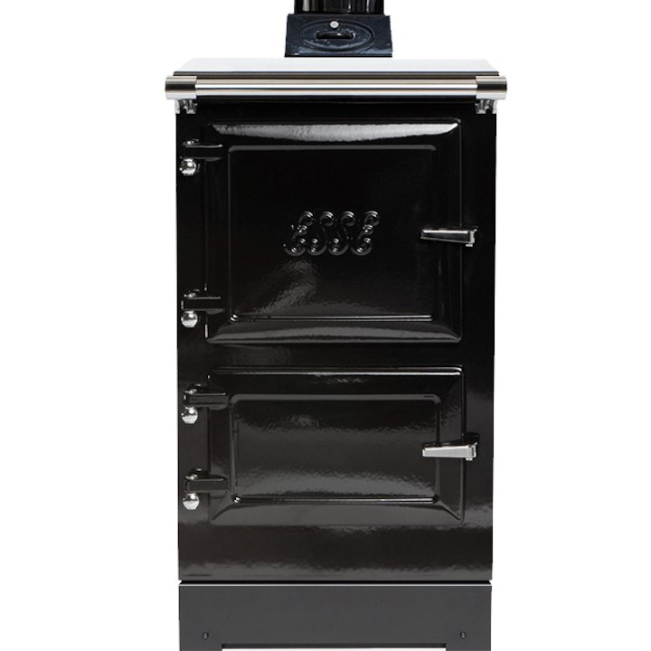 ESSE Plus 1D Wood Burning Boiler Cooker - Enamel Black