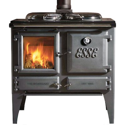ESSE Ironheart Solid Fuel Boiler Cooker Anthracite Deluxe