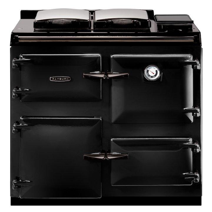 Rayburn Heatranger 480AL Conventional Flue Gas Boiler Range Cooker - Enamel Black